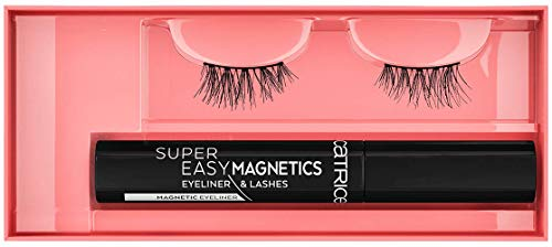 Catrice Super Easy Magnetics Eyeliner & Lashes, Nr. 010 Magical Volume, schwarz, vegan, Nanopartikel frei, ohne Parfüm, 3er Pack (3 x 1 Paar)