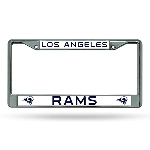 NFL Rico Industries Standard Chrome License Plate Frame, Los Angeles Rams , 6 x 12.25-inches