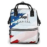 Axe Capital Mother Backpack Casual Multifunctional Travel Bags School Laptop Handbag Waterproof Diaper Bags For Women Men Adult Teen Children