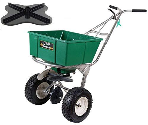 Buy Lesco 101186 High Wheel Walk-Behind Fertilizer Spreader with Ultra Plus Impeller (Bundle, 2 Item...
