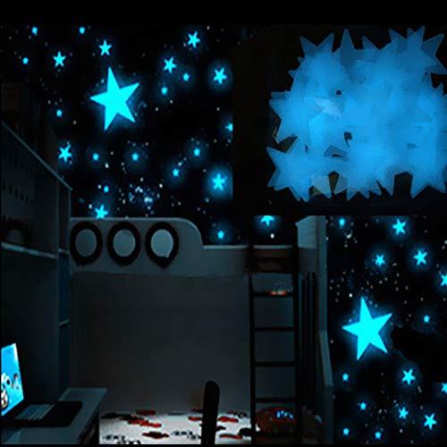 Fauean Leuchtsterne Selbstklebend Wandtattoo Leuchtaufkleber mit Sonnensystem & 9 Planeten,Wasserwelt Wandsticker,Sternenhimmel Aufkleber Babyzimmer Deko für Mädchen Jungen Geschenke