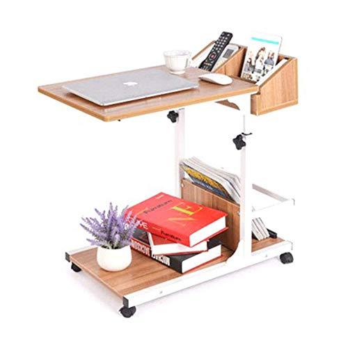 NBVCX Decoración de Muebles, sofá Lateral, Mesa para computadora portátil, Carrito, mesita de Noche móvil, Altura Ajustable con Estante de Almacenamiento, 3 Colores A