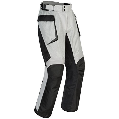 Cortech Sequoia XC Air Pants - Vented Summer Motorcycle Pants with Removable Waterproof Liner, Black, Large