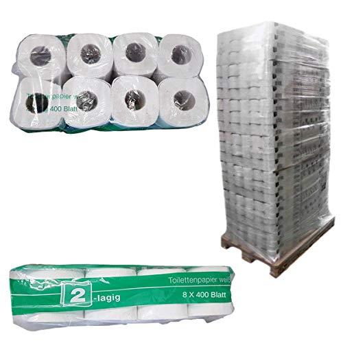 Palette Toilettenpapier Großpackung 2 lagig, Kleinrollen, WC-Papier, naturweiß, 250 Blatt je Rolle, 33 x 64 Rollen