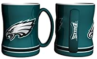 Philadelphia Eagles 15 Ounce Sculpted Logo Relief Coffee Mug