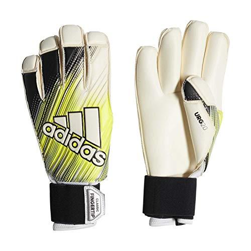 adidas Guantes de Portero Classic Pro Fingertip para Hombre, Hombre, Color Black/Solar Yellow/White, tamaño 10.5
