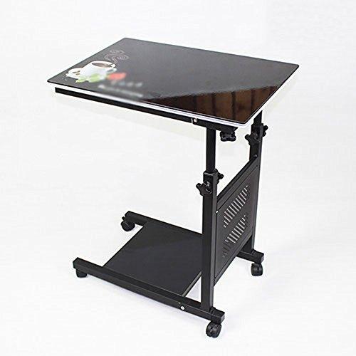 XIA Table de chevet Mobile Table Ordinateur Bureau Petite Table Table Pliante Table D'ordinateur Portable Table Paresseux Table De Levage Pliant De Stockage Hauteur réglable 60 * 40cm (Couleur : 3)