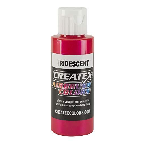 Peinture aerographe rouge iridescent, classic couleur 11 5501 createx 60 ml