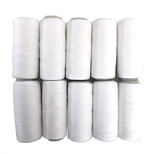 【ラッピングファクトリー】 ウーリー糸 1本5g 10個セット リボン作り 手芸 裁縫 魔法の糸 (白10個)