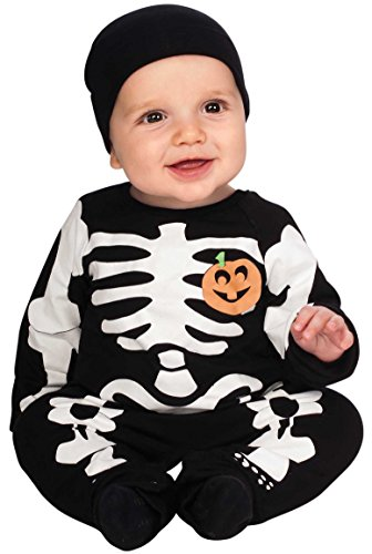 Rubie's My First Halloween Black Skeleton Costume, Black, Newborn