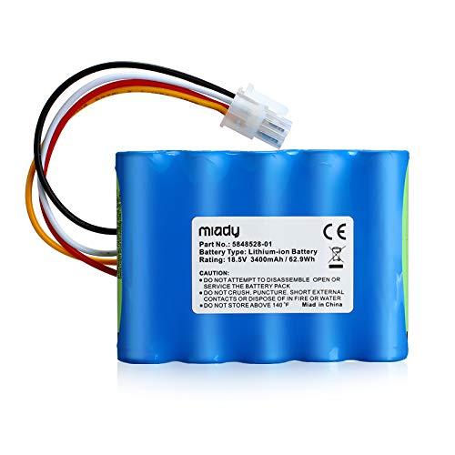 Miady Batería de repuesto (3400mAh, 18,5V) para robot corta