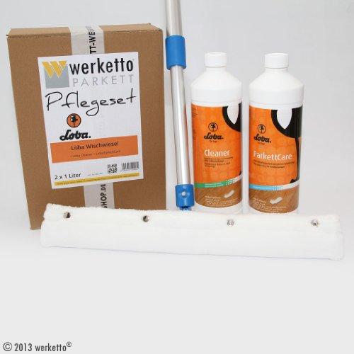 werketto Pflegeset - Loba Wischwiesel + Cleaner + ParkettCare