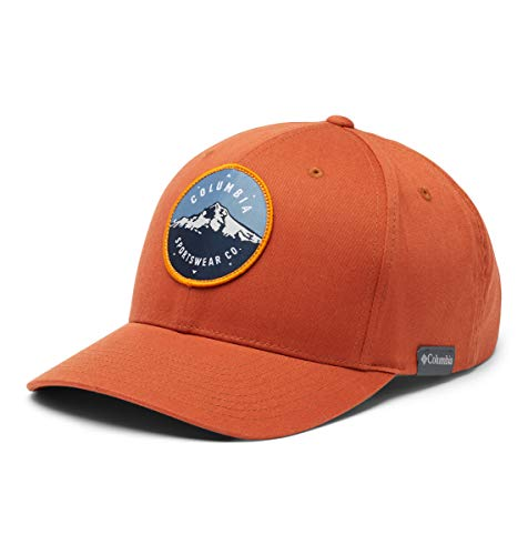 Columbia Men's Trail Essential Snap Back Hat, Dark Sienna/Mt Hood Circle Patch, One Size