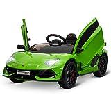 HOMCOM Kinderauto Kinderfahrzeug für 3-8 Jahre Elektroauto mit Fernsteuerung MP3/USB Licht Musik Kunststoff Metall Grün 123 x 66,5 x 45,5 cm
