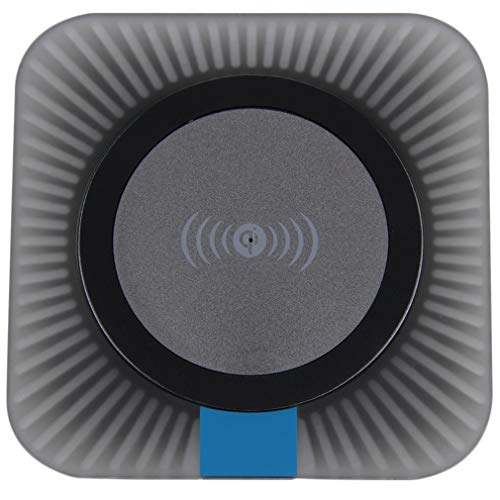 Qi Draadloze oplader Oplaadpad voor mobiele telefoons Vierkante oplader Prachtig ontworpen Duurzaam GorgeousBlack