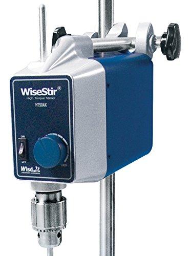 Witeg HT-50AX - Agitador de laboratorio (40 L, 50-1000 rpm, control analógico, par de giro alto, sin agitador)