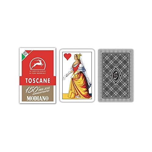 Modiano regionali Carte da Gioco Toscane Anniversario dei 150 Anni, Colore Astuccio Rosso, 300119