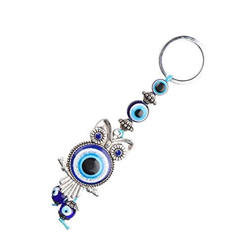 Türkische Blaue Evil Eye Eule Schlüsselbund Schlüsselanhänger Home Decor Glas Amulett Charm Anhänger Segen Geschenk