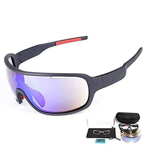 QTDS Gafas de Ciclismo POC Opcionales Multicolores Espejos de Ciclismo para Exteriores...