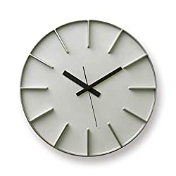 Lemnos Edge Clock Aluminum AZ-0115 AL