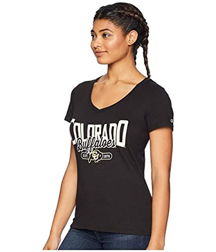 空洞呼吸するブルゴーニュChampion College Colorado Buffaloes University V-Neck Tee 服 XS 【並行輸入品】