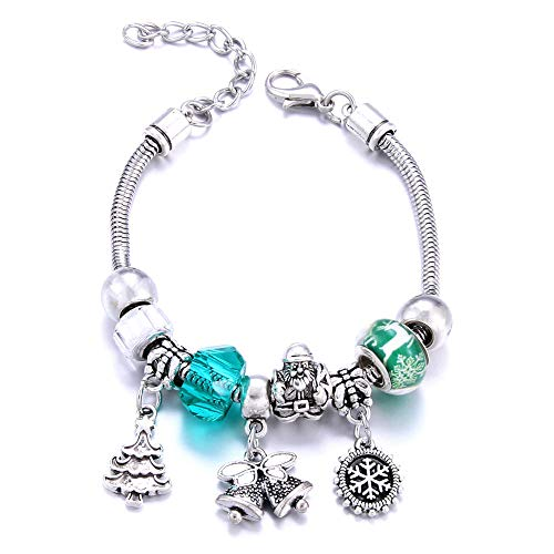 Jewellery Bracelets Bangle For Womens Tree Bracelet Snowflake Jewelry 6.5 Adjustable Beaded Bracelet Ladies Jewelry-3