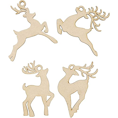 24-Pack of Assorted Reindeer Design Cutouts