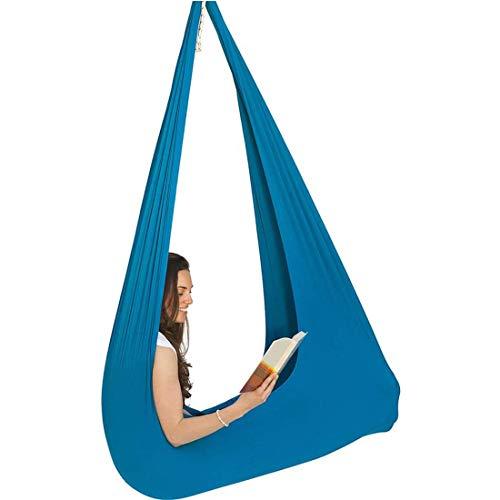Elida 82X82CM Indoor Outdoor Therapie Swing Knuffel Hangmat Sensory Swing Snuggle Swing Knuffel Hangmat Ideaal voor Sensory Integratie Tot 165 Lbs