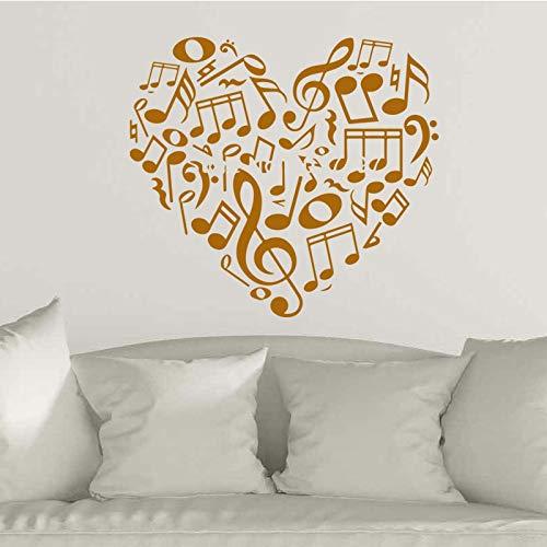 Hjärtnotering kärlek hjärta väggklistermärken flicka sovrum vardagsrum dekorativ konst självhäftande papper väggmålning A4 58 x 63 cm