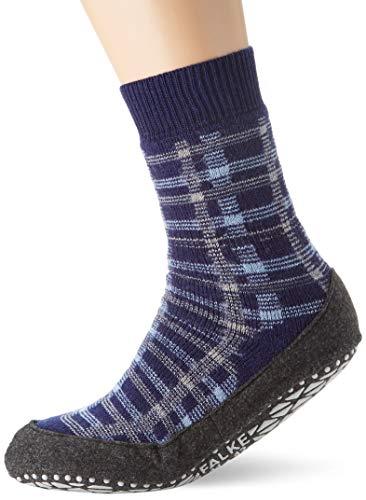 FALKE Herren Cosyshoe Checked M HP Hausschuh-Socken, Blau (Bluecollar 6733), 45-46 (UK 10-11 Ι US 11-12)