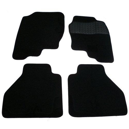 Sakura WW0140 badmat met oppervlak van rubber, zwart