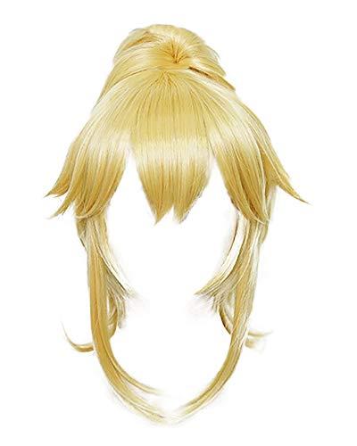 Cosplay.fm Womens Princess Koopa Bowsette Princess Peach Blonde Long Cosplay Wig
