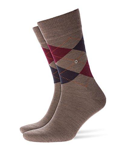 Burlington Herren Socken Edinburgh, BLICKDICHT, Braun (Pebble 5817), 40-46