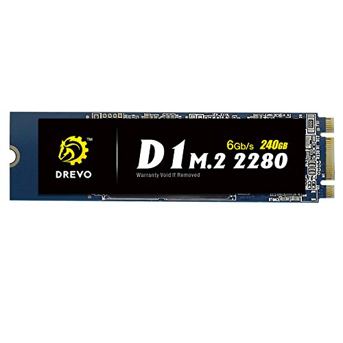 DREVO D1 M.2 2280 240GB interno SSD Memoria a Stato Solido Lettura 500MB/S Scrittura 500MB/S