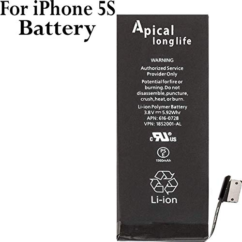 2 Years Warranty New 1560mAh 0 Cycle Battery Adhesive Strips Replacement Kit with Tools DAXTROMN Replacement Battery Compatible with iPhone 5S and 5C