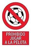 akrocard - Cartel Resistente PVC - PROHIBIDO JUGAR A LA PELOTA - Señaletica de prohibicion - señal disuasorio Ideal para Colgar y Advertir