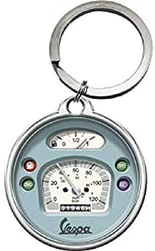 Nostalgic-Art Vespa - Tacho Schlüsselanhänger rund, Bunt, 4 cm