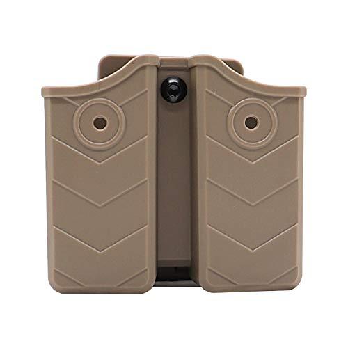 efluky Magazintasche Universal Magazin Holster Pistole Clip Passt für Walther P99/HK/CZ/Glock 17 19/Sig Sauer/9mm Softair Magazin Holster, Belt Clip 60° Einstellbar