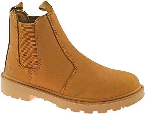 GRAFTERS SAFETY CHELSEA DEALER BOOTS SIZE UK 3 - 16 WORK HONEY NUBUCK M808N KD-Honey-UK 15 (EU 51)