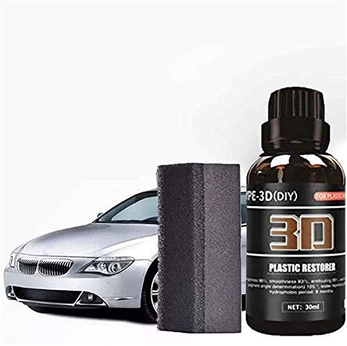Car Coating Wax 3D Reduce Scratches Car Plastic Restorer,Ceramic Car Polish and Scratch Remover, Professional Car Scratch Repair Agent with Grinding Sponge