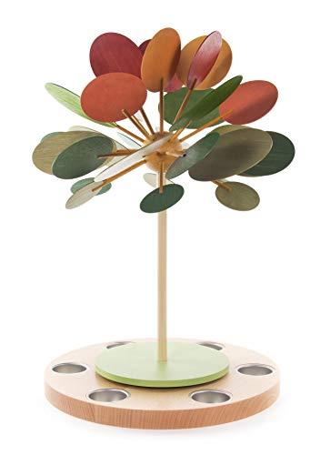 Rudolphs schatkist tafelpiramide theelichtpiramide met herfstboom hoogte 42 cm tafeldecoratie decoratie kerst warmte-spel lichten figuur hout zeep ertsgebergte hout vleugels kaarsen
