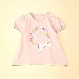 コムサフォセット(COMME CA FOSSETTE) フラワーリースプリント半袖チュニックTシャツ
