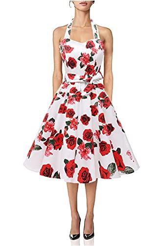 Audrey Hepburn Style Rose Themed Dress