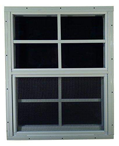 Shed Windows 18' W x 23' H - Flush Mount - Playhouse Windows (White)