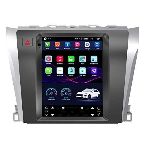 Kilcvt Navegación por Radio GPS, Estéreo De Navegación GPS para Automóvil De 9 Pulgadas/Android 10, para Toyota Camry 12-16 Soporte De Pantalla Vertical Control del Volante/Bluetooth,WiFi 1g+16g