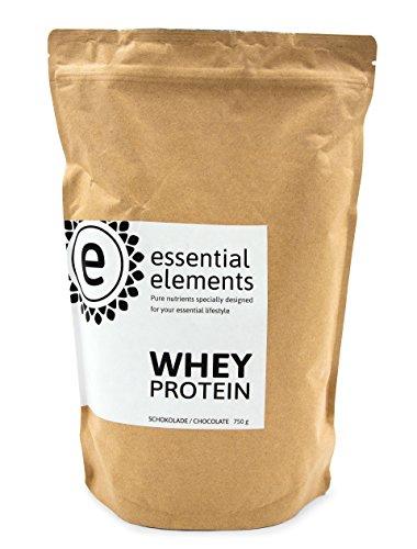 Whey Protein Powder, chocolade, 750g - het alternatieve koolhydraatarme eiwitpoeder voor een gezonde voeding tussen de maaltijden door - gemaakt in Duitsland - 100% zuiver wei-eiwit (wei-eiwitconcentraat)
