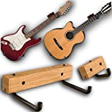 RawRock Horizontal Guitar Hanger - Tilt and Display Your Guitar, Ukulele, Bass, Electric Guitar, Banjo at a Slanted Angle with Beauty (Country Classic)