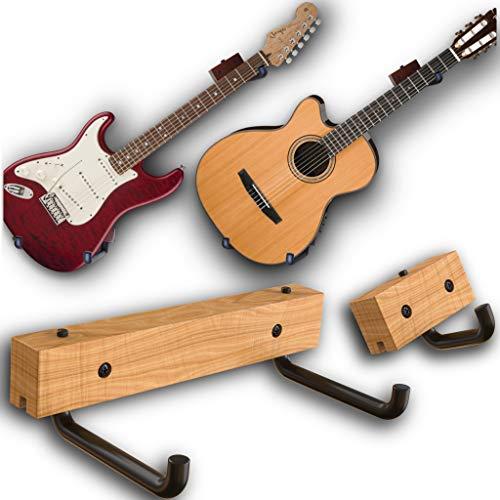 RawRock Horizontal Guitar Hanger Tilt and Display Your Guitar, Ukulele, Bass, Electric Guitar, Banjo...