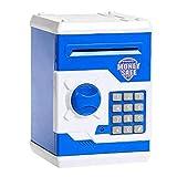 Alcancía Dinero Bancos Niños - caja de seguridad electrónica Contraseña hucha ATM Money Cash Box automático de monedas fuerte billetes de dinero en ahorro de Cajero Banco Desarrollar buenos hábitos de