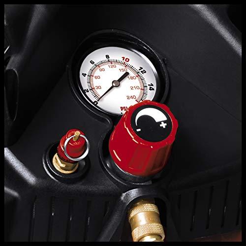 Einhell Kompressor TH-AC 240/50/10 OF (1500 W, 240 l/min Ansaugl., 50 l Kessel, 10 bar max. Betriebsdruck, öl- und wartungsarm, Druckminderer, Manometer) - 3